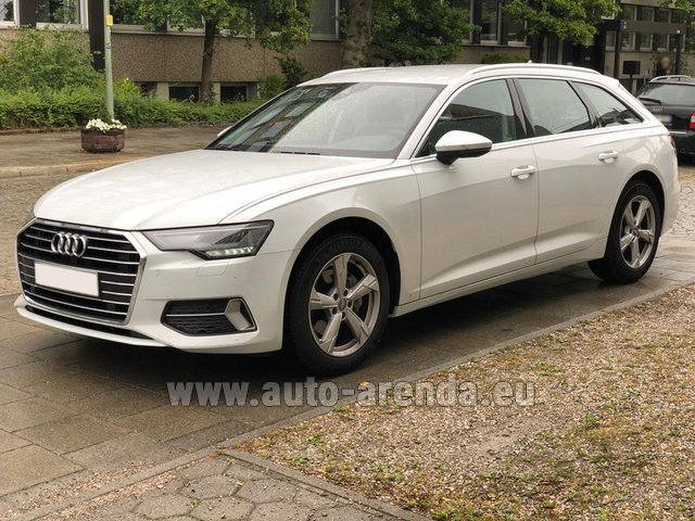 Hire and delivery to Brussels Airport the car Audi A6 40 TDI Quattro Estate