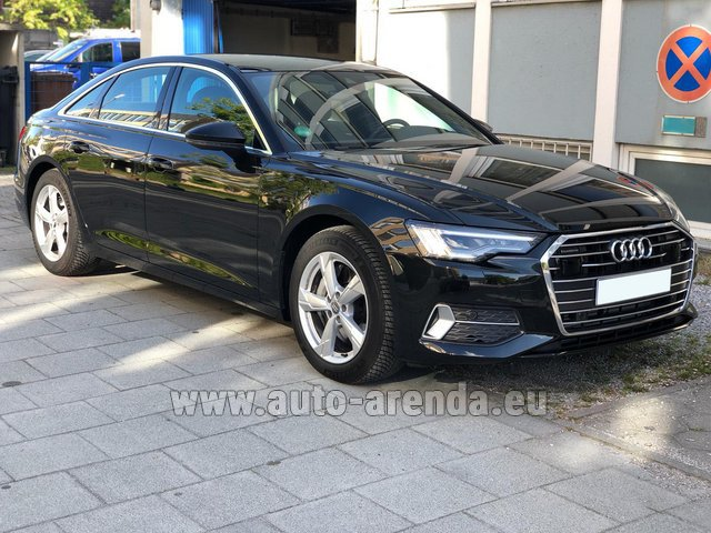 Hire and delivery to Brussels Airport the car Audi A6 45 TDI Quattro