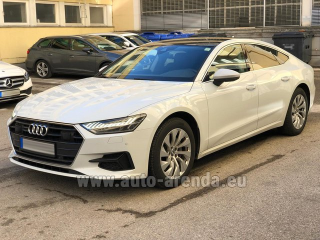 Hire and delivery to Brussels Airport the car Audi A7 50 TDI Quattro