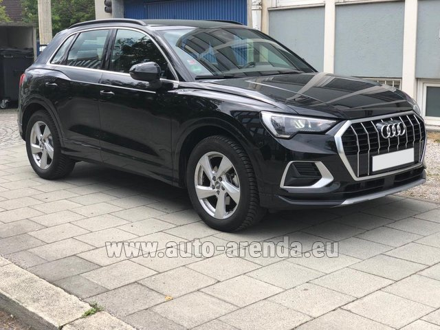 Hire and delivery to Brussels Airport the car Audi Q3 35 TFSI Quattro