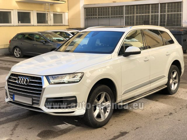 Hire and delivery to Brussels Airport the car Audi Q7 50 TDI Quattro White