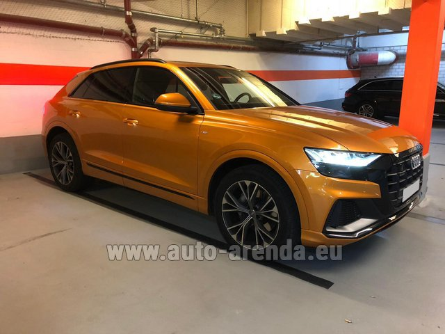 Hire and delivery to Brussels Airport the car Audi Q8 50 TDI Quattro