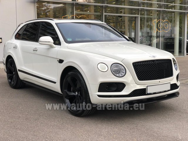 Hire and delivery to Brussels Airport the car Bentley Bentayga 6.0 litre twin turbo TSI W12