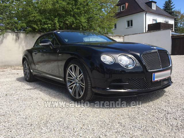 Rental Bentley Continental GTC V12-Speed in Charleroi