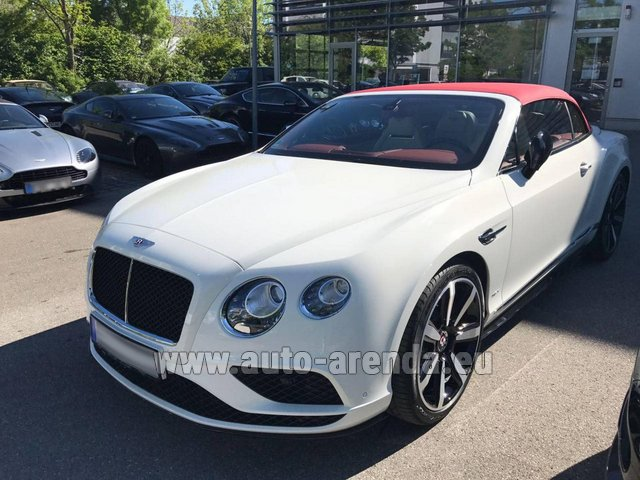 Rental Bentley Continental GTC V8 S in Ghent