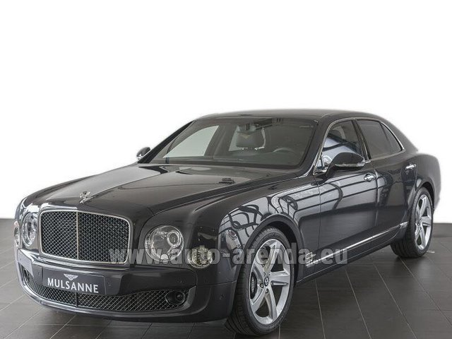 Hire and delivery to Brussels Airport the car Bentley Mulsanne Speed V12