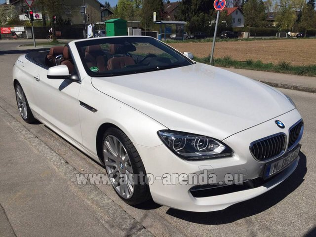 Rental BMW 640 Cabrio Equipment M-Sportpaket in Antwerp