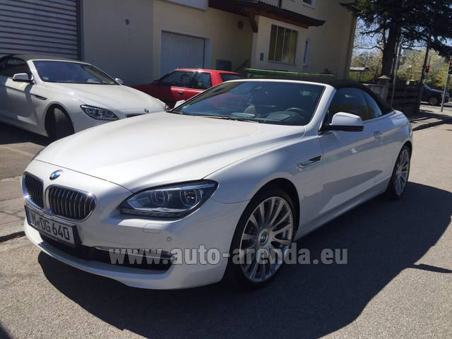 Rental BMW 640d Cabrio Equipment M-Sportpaket in Charleroi