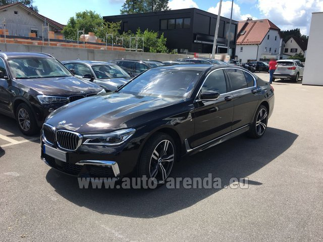 Hire and delivery to Brussels Airport the car BMW 750i XDrive M equipment