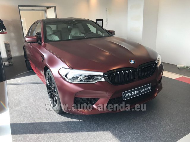 Rental BMW M5 Performance Edition in Belgium