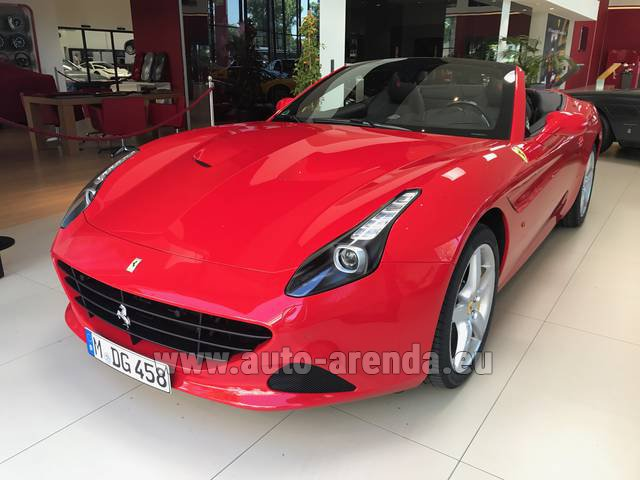Rental Ferrari California T Convertible Red in Charleroi