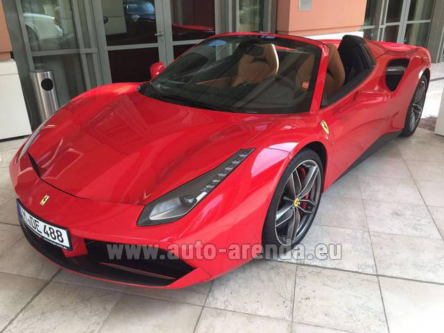 Rental Ferrari 488 GTB Spider Cabrio in Brussels