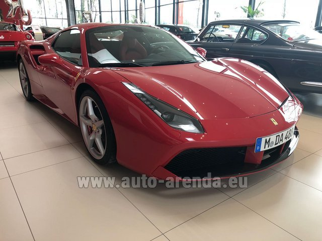 Rental Ferrari 488 Spider in Ghent