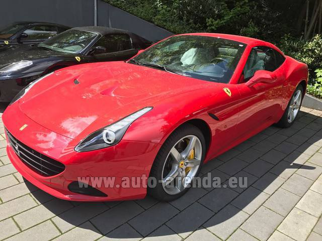 Rental Ferrari California T Cabrio Red in Charleroi