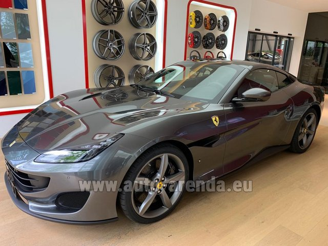 Hire and delivery to Brussels Airport the car Ferrari Portofino