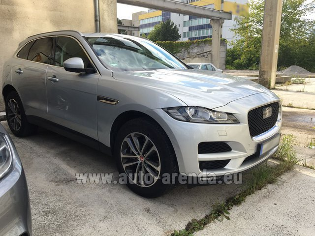 Hire and delivery to Brussels Airport the car Jaguar F-Pace