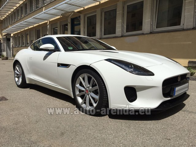 Hire and delivery to Brussels Airport the car Jaguar F-Type 3.0 Coupe