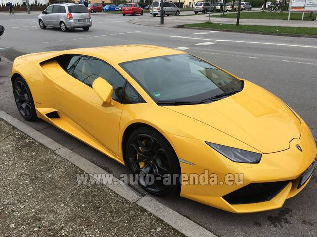 Rental Lamborghini Huracan LP 610-4 Yellow in Antwerp