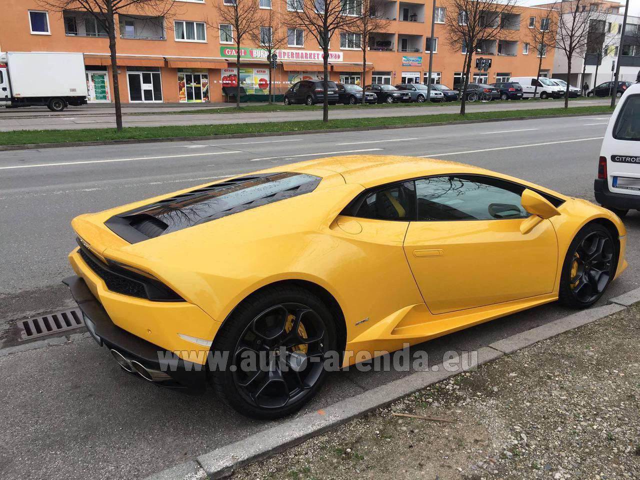 Belgium Lamborghini Huracan Lp 610 4 Yellow Rental