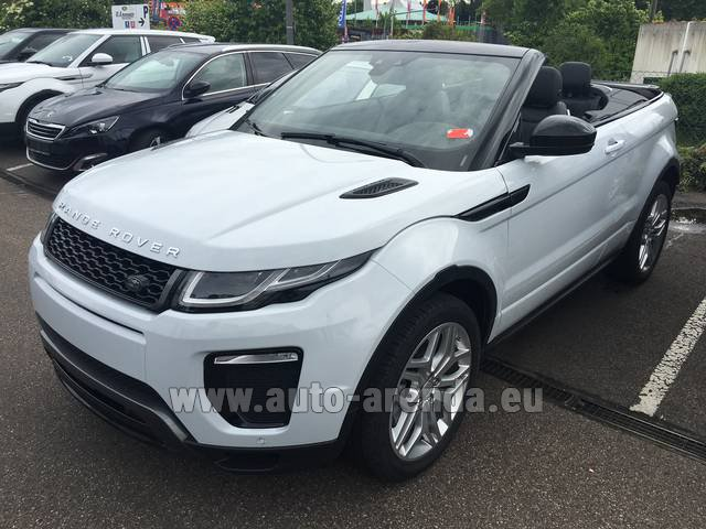 Rental Land Rover Range Rover Evoque HSE Cabrio SD4 Aut. Dynamic in Bruges