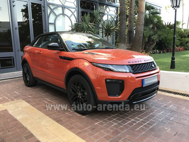 Rental Land Rover Range Rover Evoque HSE Cabrio SD4 in Bruges