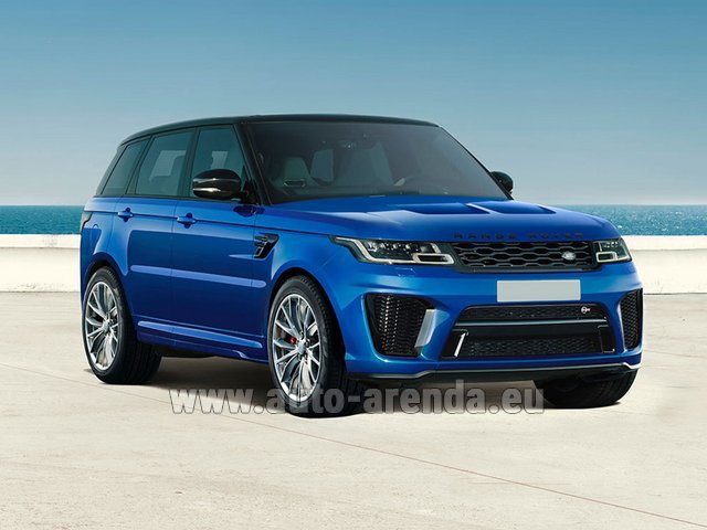 Rental Land Rover Range Rover Sport SVR V8 in Bruges