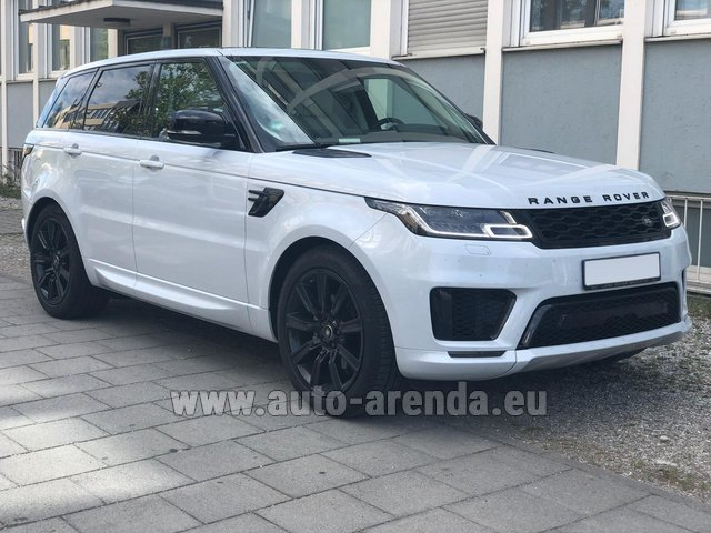 Rental Land Rover Range Rover Sport White in Bruges