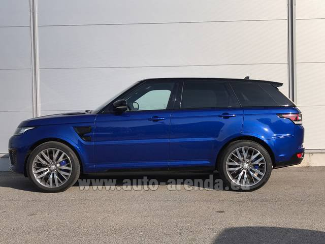 Rental Land Rover Range Sport SVR V8 in Bruges