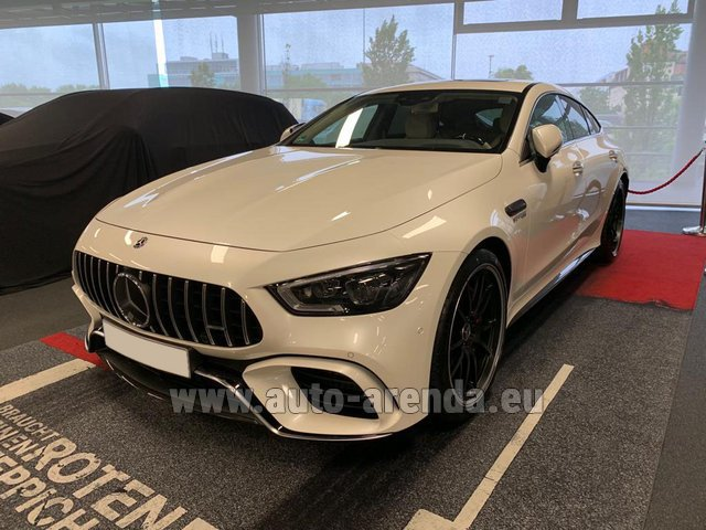 Hire and delivery to Brussels Airport the car Mercedes-Benz AMG GT 63 S 4-Door Coupe 4Matic+