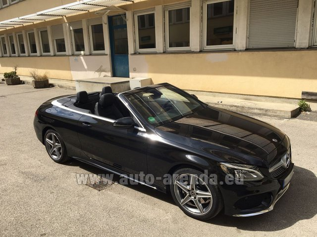 Rental Mercedes-Benz C-Class C 180 Cabrio AMG Equipment Black in Charleroi