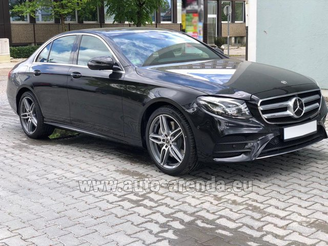Hire and delivery to Brussels Airport the car Mercedes-Benz E 450 4MATIC saloon AMG equipment