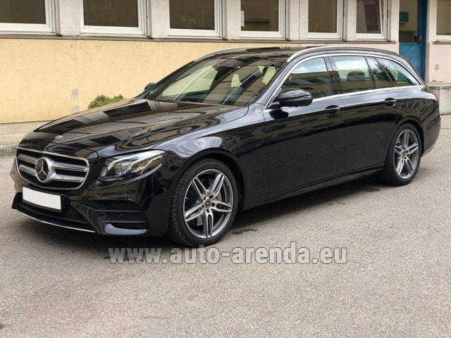 Hire and delivery to Brussels Airport the car Mercedes-Benz E 450 4MATIC T-Model AMG equipment