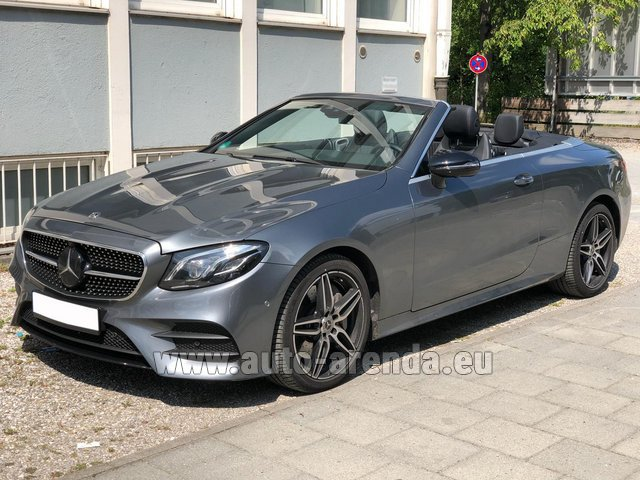 Rental Mercedes-Benz E 450 Cabriolet AMG equipment in Ghent
