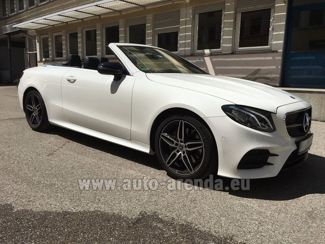 Rental Mercedes-Benz E-Class E 200 Cabrio in Charleroi