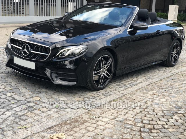 Rental Mercedes-Benz E-Class E220d Cabriolet AMG equipment in Ghent