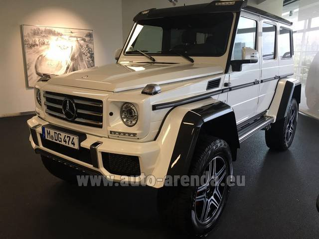 Rental Mercedes-Benz G 500 4x4 White in Bruges