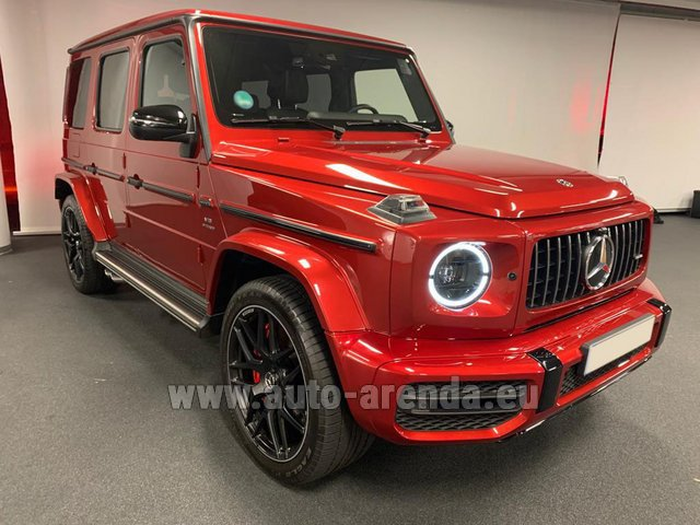 Rental Mercedes-Benz G 63 AMG biturbo in Liege