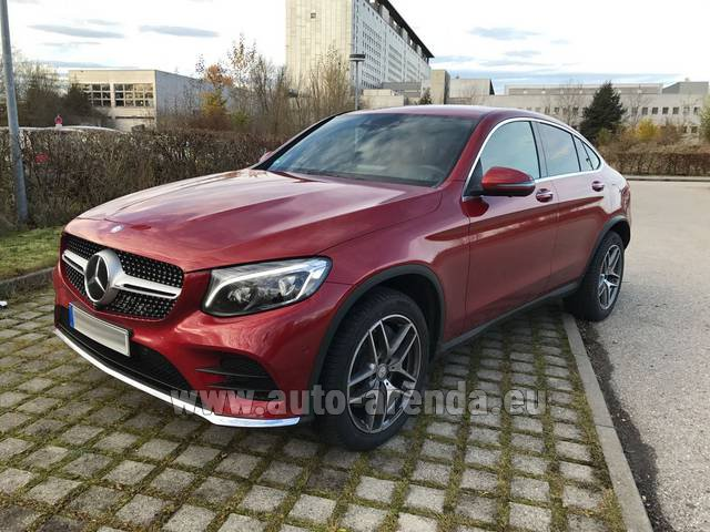 Hire and delivery to Brussels Airport the car Mercedes-Benz GLC Coupe equipment AMG