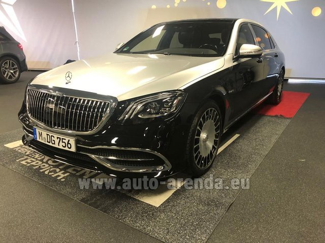 Rental Maybach S 560 4MATIC AMG equipment Metallic and Black in Belgium