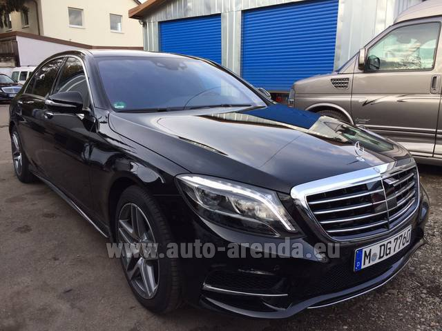 Rental Mercedes-Benz S 350 L BlueTEC AMG Black in Antwerp