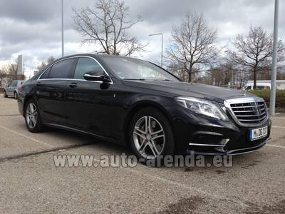 Mercedes-Benz S350 Long 4MATIC AMG equipment car for transfers from airports and cities in Germany and Europe.