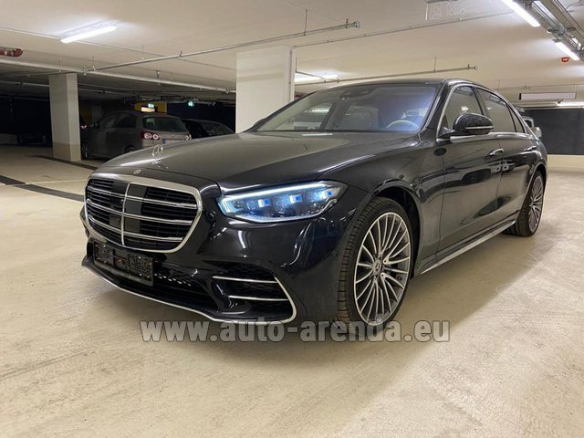 Hire and delivery to Brussels Airport the car Mercedes-Benz S 500 4MATIC Sedan long