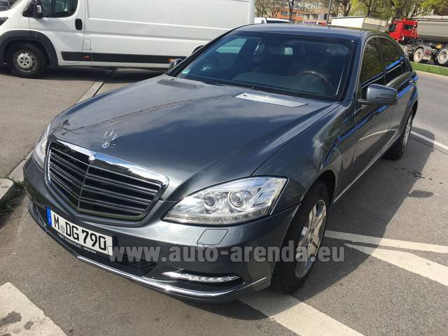 Hire and delivery to Brussels Airport the car Mercedes-Benz S 600 L B6 B7 ARMORED Guard FACELIFT