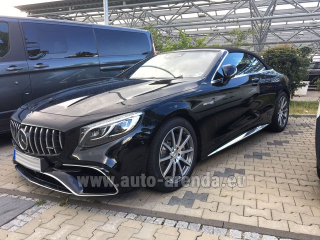 Rental Mercedes-Benz S 63 AMG Cabriolet V8 BITURBO 4MATIC+ in Charleroi