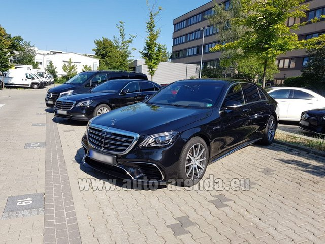 Hire and delivery to Brussels Airport the car Mercedes-Benz S 63 AMG Long