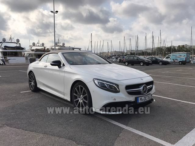 Rental Mercedes-Benz S 63 Cabrio AMG in Charleroi