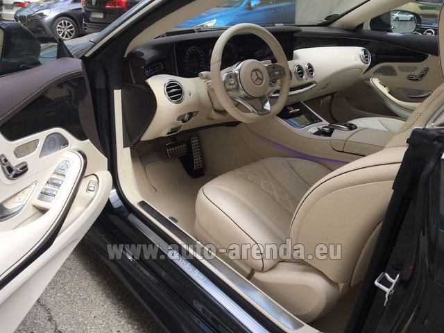 Hire and delivery to Brussels Airport the car Mercedes-Benz S-Class S 560 4MATIC Coupe