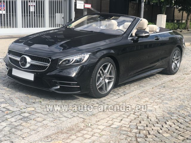 Rental Mercedes-Benz S-Class S 560 Cabriolet 4Matic AMG equipment in Ghent