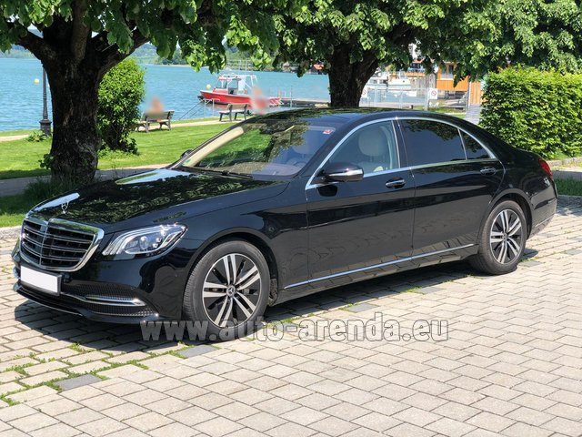 Hire and delivery to Brussels Airport the car Mercedes-Benz S-Class S400 Long 4Matic Diesel AMG equipment