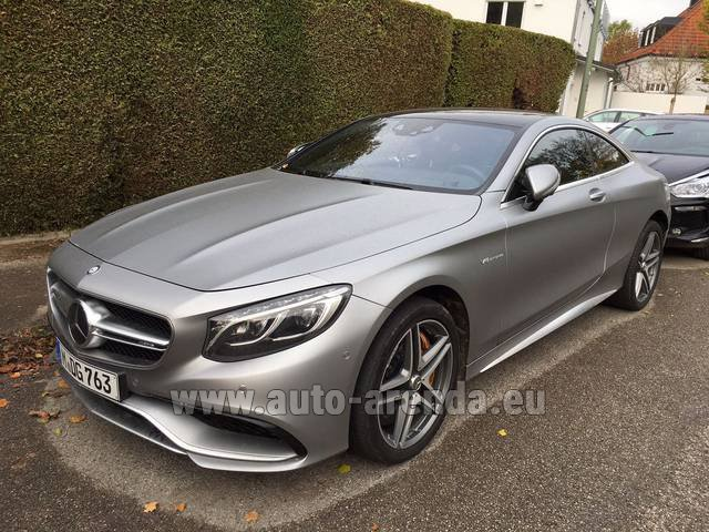 Rental Mercedes-Benz S-Class S63 AMG Coupe in Bruges